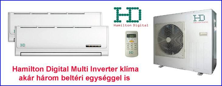 Hamilton Digital multi inverter klíma, akár három beltéri egységgel is