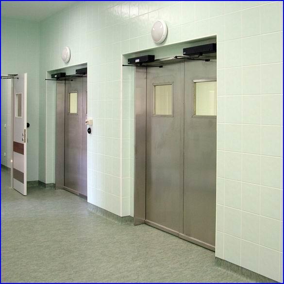 Ajtónyitó referencia - Honvéd kórház, rozsdamentes automata műtőajtó
