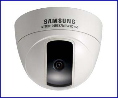 SAMSUNG SID-45 biztonsági kamera és SID-46 biztonsági kamera, dóm biztonsági kamera, éjjellátó biztonsági kamera