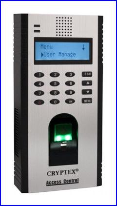 CRYPTEX bel�ptet� rendszer CR-F02 sz�mk�dos �s ujjlenyomatos bel�ptet� rendszer termin�l