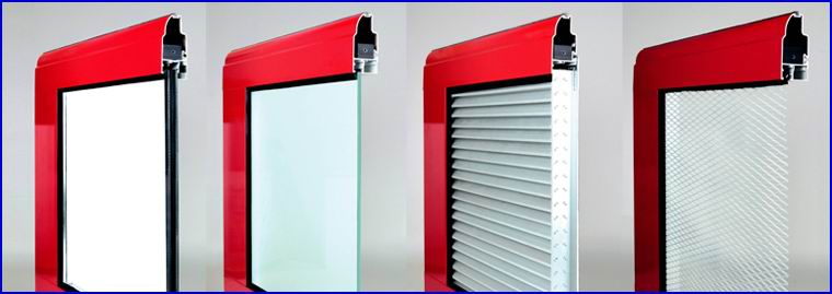DITEC ipari kapu FULL VISION panoráma ablakok és szellőzőrácsok