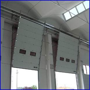 DITEC ipari kapu függőleges sínvezetéssel, belülről