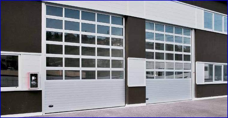 DITEC ipari kapuk FULL VISION panoráma ablakokkal autó szervizekhez