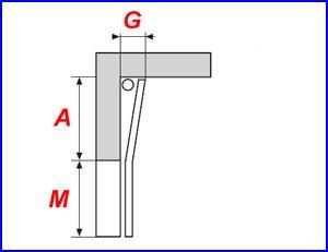 Függőleges sínvezetés, felső rugós kialakítással