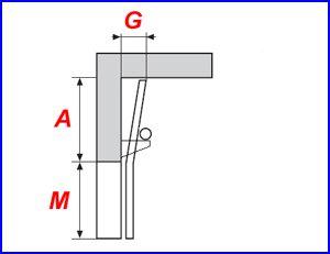 Függőleges sínvezetés, alsó rugós kialakítással