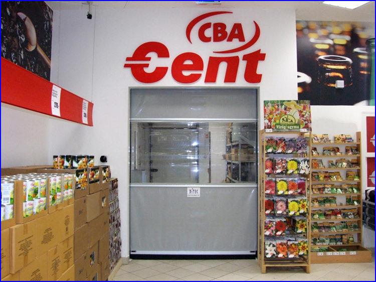 CBA áruház - Csepel Plaza - SECTOR ipari gyorskapu