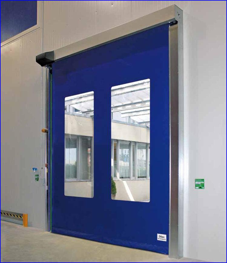 DITEC SECTOR RESET gyorskapu nagyméretű függőleges ablakokkal