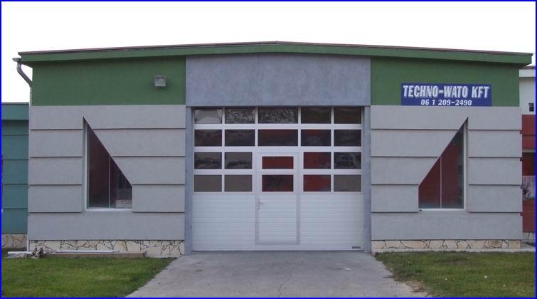 Airport ipari park - ECOTOR ipari kapu FULL VISION panoráma szekciókkal, beépített átjáró ajtóval