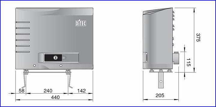 DITEC ipari kapumozgató motor