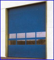 ECOTOR szekcion�lt ipari kapu FULL VISION panor�ma ablakkal, egyedi RAL sz�nben