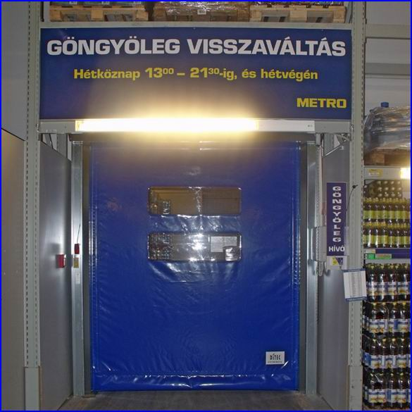 Ipari gyorskapu referencia - Metro áruház Nyíregyháza