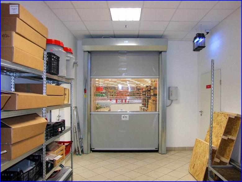 Ipari gyorskapu referencia - CBA áruház - Csepel Plaza