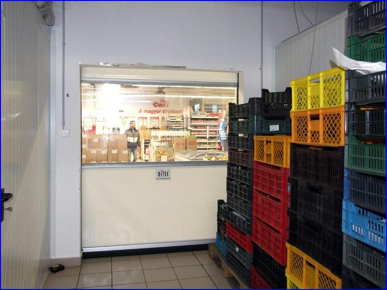 Ipari gyorskapu referencia - CBA áruház - Kaposvár