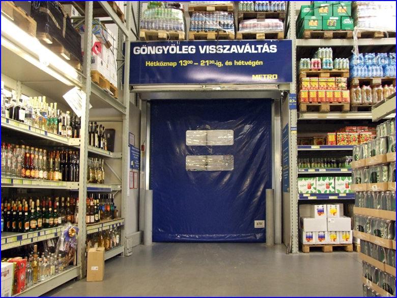 Ipari gyorskapu referencia - Metro áruház Székesfehérvár