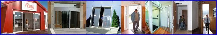 DITEC toló automata ajtó. DITEC szárnyas automata ajtó. DITEC ajtónyitó. Üvegportál és akadálymentesítés.