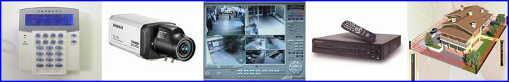 Biztons�gtechnika A - Z-ig: PARADOX riaszt� rendszer, SAMSUNG biztons�gi kamera, EUROVIDEO sz�m�t�g�p alap� megfigyel� rendszer, EUROVIDEO DVR digit�lis k�pr�gz�t� �s megfigyel� rendszer, SENGATE infra ker�t�s.