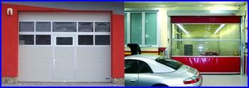 ECOTOR szekcionált ipari kapu, DITEC SMART ipari gyorskapu, DITEC SECTOR ipari gyorskapu, DITEC STRIP szalagfüggöny.