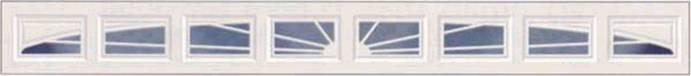 Full Sunray mintázatú garázskapu ablak