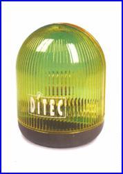 Sárga villogó lámpa DITEC kapunyitó automatikákhoz