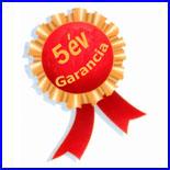 5 �v teljes k�r� garancia a gar�zskapura