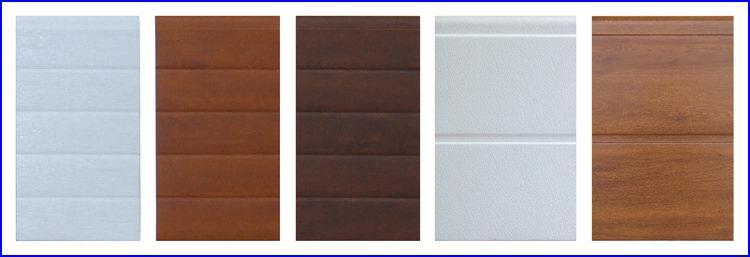Szekcion�lt gar�zskapu keskeny �s sz�lesbord�s panelek alap esetben feh�r, fadekor aranyt�lgy �s di� kivitelben
