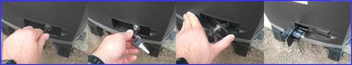 DITEC CROSS toló kapunyitó kioldása áramkimaradás esetén