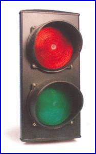 Forgalomirányító lámpa társasházi kapunyitó alkalmazásokhoz