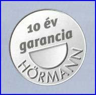 Hörmann billenő garázskapu 10 év garanciával