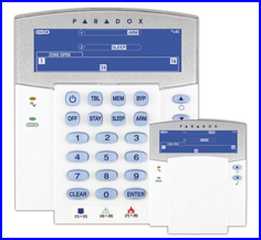 PARADOX riasztó rendszer - ESPRIT riasztó K35 kezelő