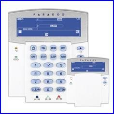 PARADOX riasztó rendszer K35 IKON LCD kezelő