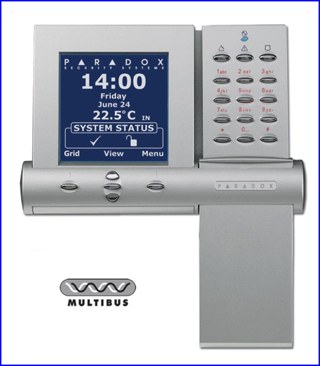 PARADOX riasztó rendszer K07 LCD kezelő