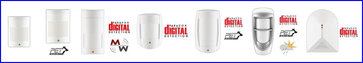 PARADOX riasztó rendszer mozgásérzékelők