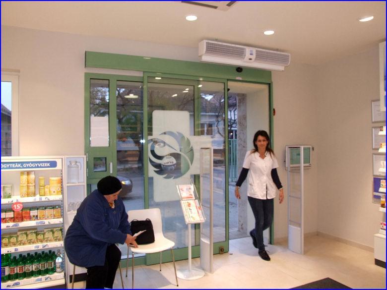 Automata ajtó referencia - Benu gyógyszertár Pilisvörösvár