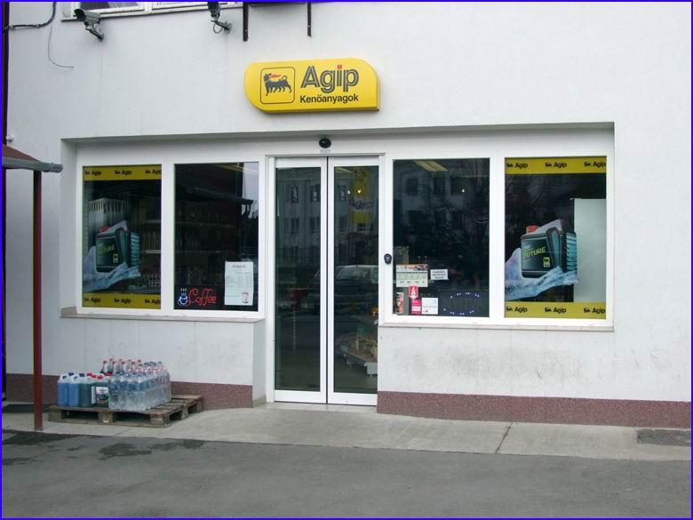 Automata ajtó referencia - AGIP benzinkút