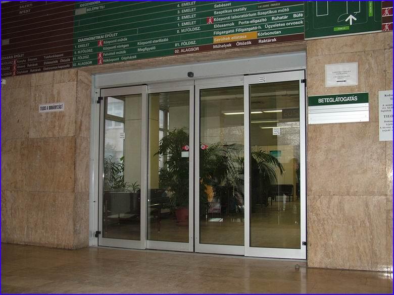 Automata ajtó referencia - Országos Traumatológiai (Baleseti) Intézet