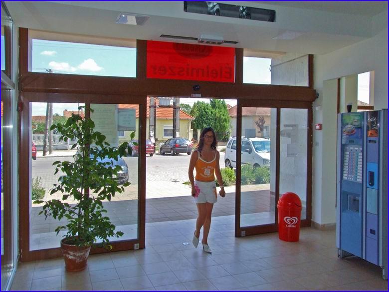Automata ajtó referencia - REÁL élelmiszer Újhartyán