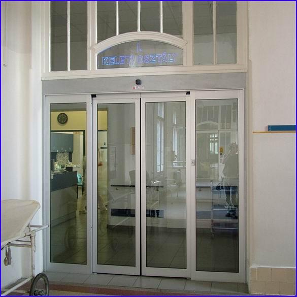 Automata ajtó referencia - SOTE 1-es számú belgyógyászati klinika Keleti osztály