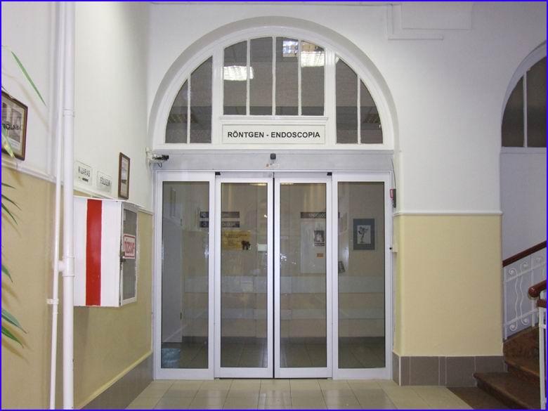 Automata ajtó referencia - SOTE 1-es számú belgyógyászati klinika röntgen és endoscopia