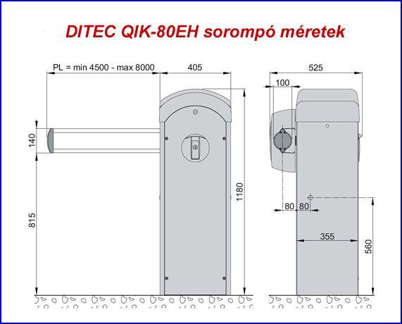 DITEC QIK-80EH sorompó