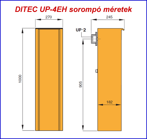 DITEC UP-4EH sorompó