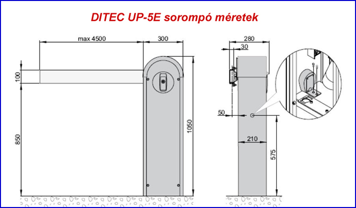 DITEC UP-5E sorompó