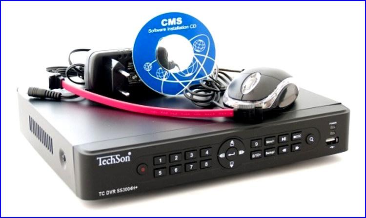 TechSon DVR SS3004 kamera rendszer és videó rögzítő