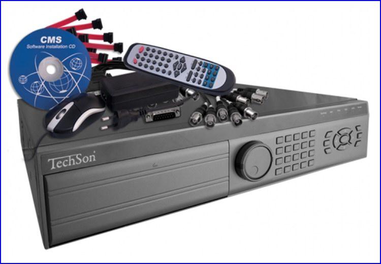 TechSon DVR XLN3008 kamera rendszer és videó rögzítő